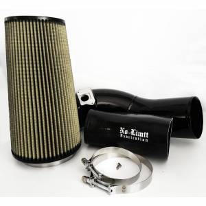 No Limit Fabrication   6.0 Cold Air Intake 03-07 Ford Super Duty Power Stroke Black PG7 Filter   60CAIBP