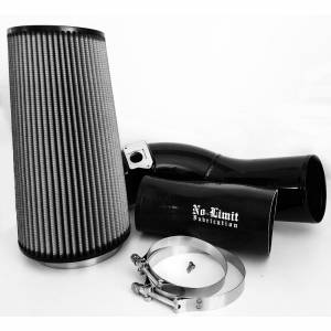 No Limit Fabrication   6.0 Cold Air Intake 03-07 Ford Super Duty Power Stroke Black Dry Filter   60CAIBD