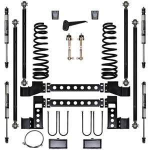 Pure Performance Suspension | 4.5 Inch X Factor Long Arm Suspension System Stage 1 03-09 Ram 2500, 3500 HD 4x4 Front/Rear | R2LA4503-S1