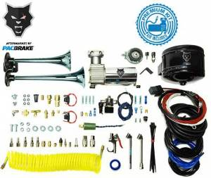 2011-2016 Ford 6.7L Powerstroke - Accessories - Pacbrake - Pacbrake | Premium Dual Air Horn Kit W/Air Horn Kit (HP10073) And Onboard Air Kit (HP10163) | HP10213