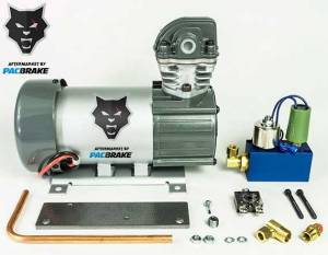 Pacbrake | 12V HP625 Series Heavy Duty Air Compressor Kit Vertical Pump Head HP10625V Air Compressor Basic Components Of The Unloader Block Assembly Does Not Include The Pre-Built Wiring Harnesses | HP10632