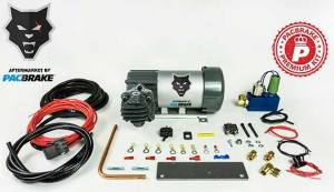 Pacbrake | 12V HP625 Series Heavy Duty Air Compressor Kit W/HP10625H Air Compressor The Entire Unloader Block Assembly Kit W/Pre-Built Harnesses Kit HP10116 | HP10628