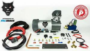 Pacbrake | 12V HP625 Series Preminum Heavy Duty Air Compressor Kit Vertical Pump Head HP10625V Air Compressor Entire Unloader Block Assembly Kit With Pre-Built Harnesses Kit HP10116 | HP10629