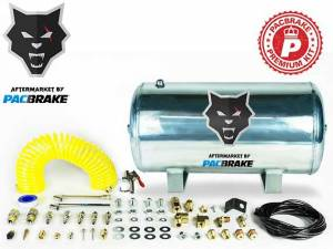 2017+ Ford 6.7L Powerstroke - Accessories - Pacbrake - Pacbrake | 5 Gallon Aluminum Premium Air Tank Kit W/Air Tank Airline Air Nozzle Air Accessories Fittings And Fasteners | HP10268