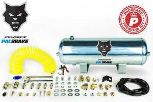 2017+ Ford 6.7L Powerstroke - Accessories - Pacbrake - Pacbrake | 2 1/2 Gallon Aluminum Premium Air Tank Kit Consists Of Air Tank Airline Air Nozzle Air Accessories Fittings And Fasteners | HP10267