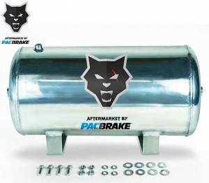 2017+ Ford 6.7L Powerstroke - Accessories - Pacbrake - Pacbrake | 5 Gallon Aluminum Basic Air Tank Kit Tank and Hardware Only | HP10265
