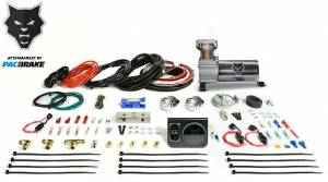 Pacbrake | Premium In Cab Control Kit For Simultaneous Spring Activation W/HP325 Compressor Air Spring Dash Switches Pre Built Harnesses Fittings Fasterners and Everything Required For a Complete Install | HP10231