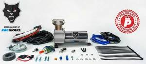 Pacbrake | 12V HP325 Series Premium Air Compressor Kit Consists Of Air Compressor Pre-Built Wiring Harnesses And Required Hardware | HP10066