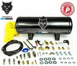 2017+ Ford 6.7L Powerstroke - Accessories - Pacbrake - Pacbrake | 2 1/2 Gallon Carbon Steel Premium Air Tank Kit Consists Of Air Tank Airline Air Nozzle Air Accessories Fittings And Fasteners | HP10050