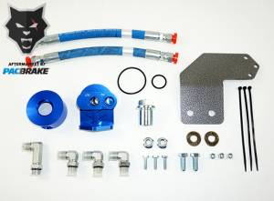 Gas Vehicles - Ram - Pacbrake - Pacbrake   Remote Oil Filter Relocation Kit For 19-20 RAM 1500 Classic HEMI w/ M22 x 1.5mm Filter Thread   HP10363