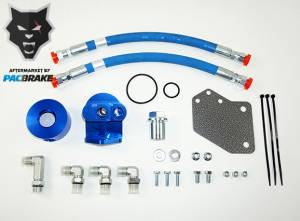 Gas Vehicles - Ram - Pacbrake - Pacbrake   Remote Oil Filter Relocation Kit For 09-18 RAM 1500 Classic HEMI w/ M22 x 1.5mm Filter Thread   HP10362