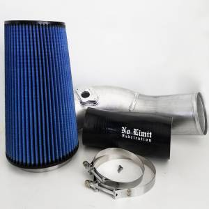 No Limit Fabrication   6.0 Cold Air Intake 03-07 Ford Super Duty Power Stroke Raw Oiled Filter   60CAIRO