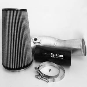 No Limit Fabrication   6.0 Cold Air Intake 03-07 Ford Super Duty Power Stroke Raw Dry Filter   60CAIRD