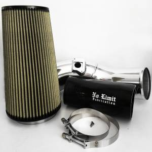 No Limit Fabrication   6.0 Cold Air Intake 03-07 Ford Super Duty Power Stroke Polished PG7 Filter   60CAIPP
