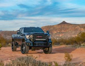 Flog Industries | 2020-Present Sierra 2500/3500 Front Bumper with Sensors | FISD-G2535-2020+F-s
