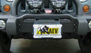 Exterior - Bumpers & Parts - AEV - AEV Conversions | Roller Fairlead License Plate Mounting Kit